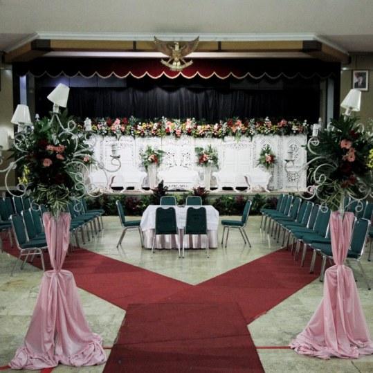 Dekorasi Akad Nikah di Aula Sudirman